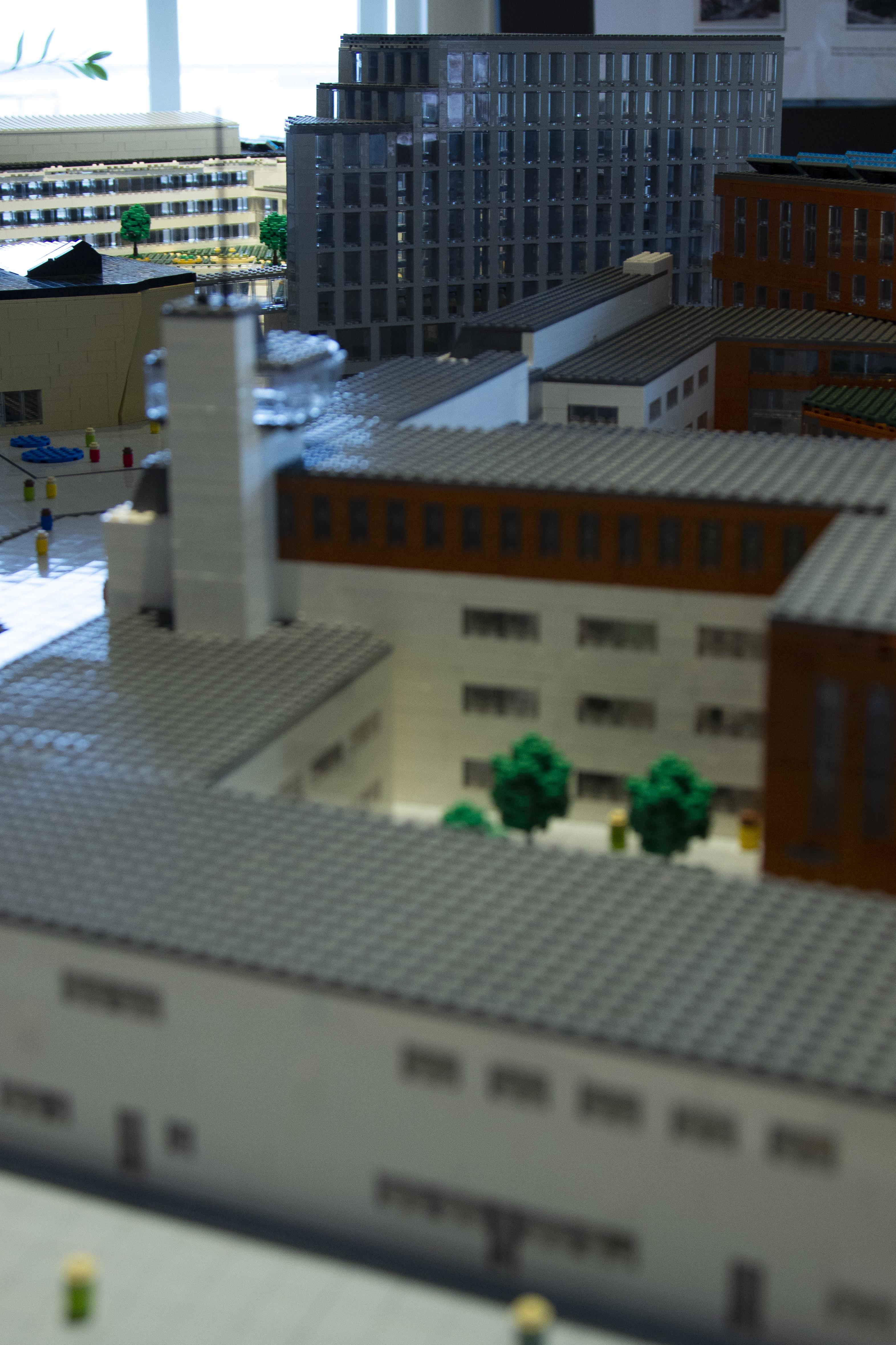 Legobild över framtidens universitet i Kalmar