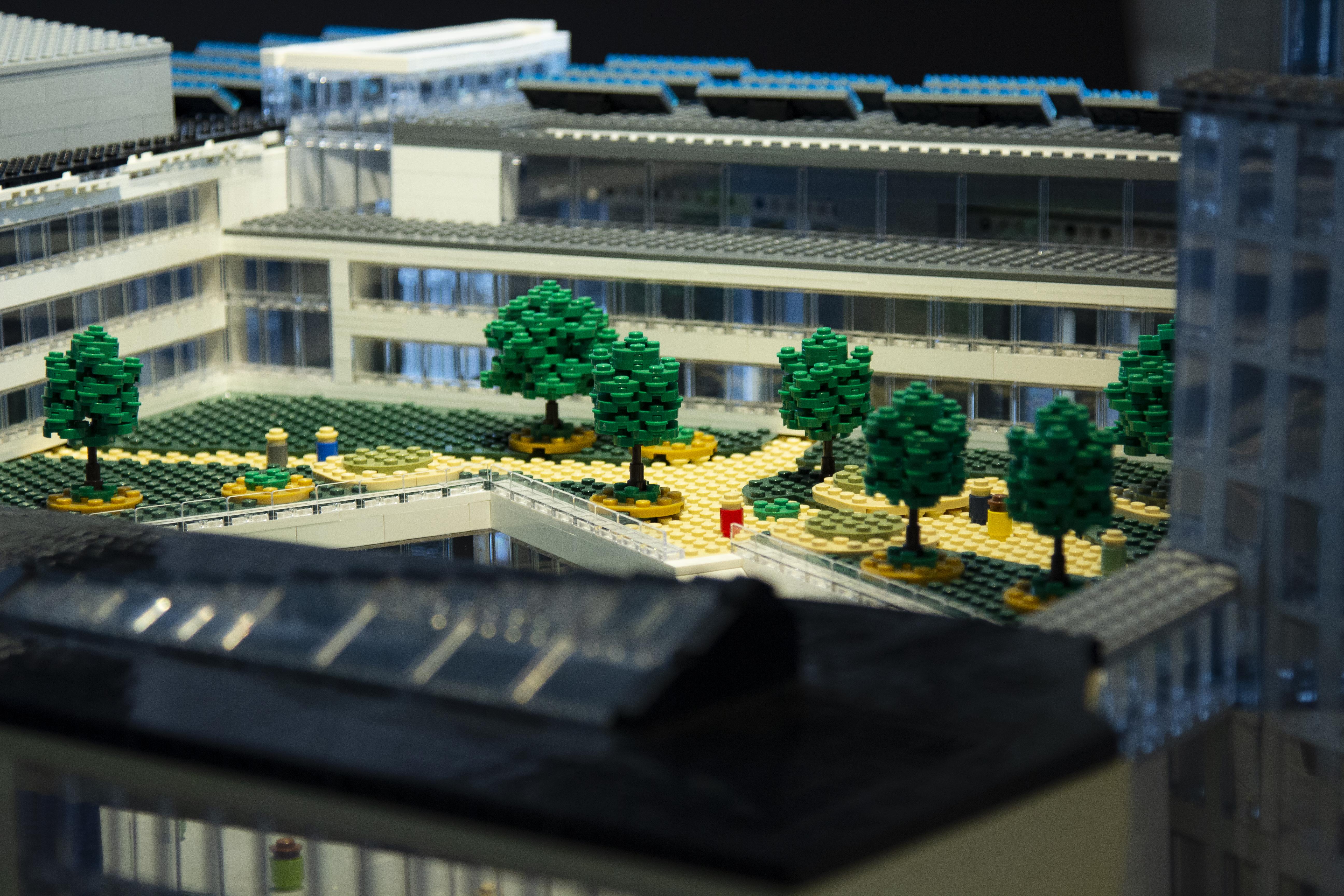 Modell över framtidens Kalmar