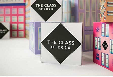 Kuber från Class Conference med budskapet The Class of 2020.