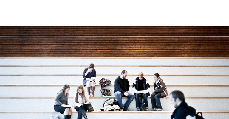 Bild från campus, Karlstads universitet.