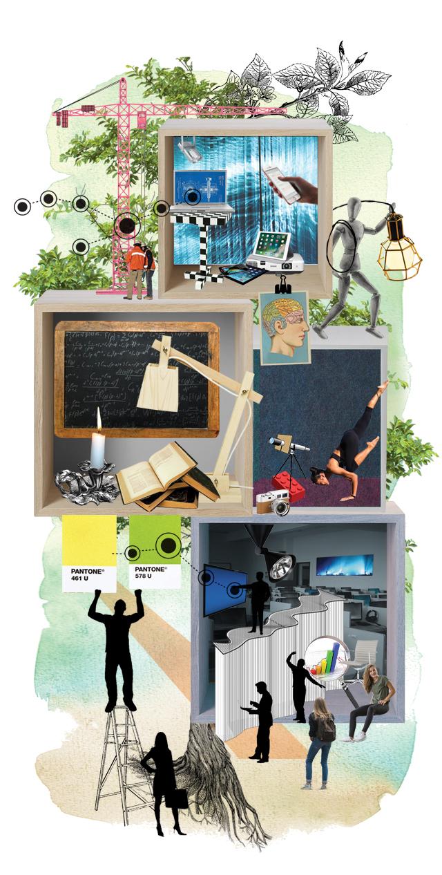 Illustration över rum för lärande